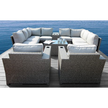 Kingston Sectional Club // 14 Piece Set