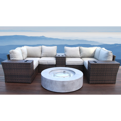 Manchester Cup Table Fire Pit // 10 Piece Set