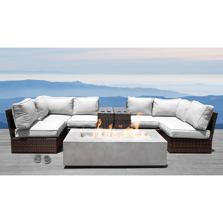 Manchester Cup Table Fire Pit // 9 Piece Set