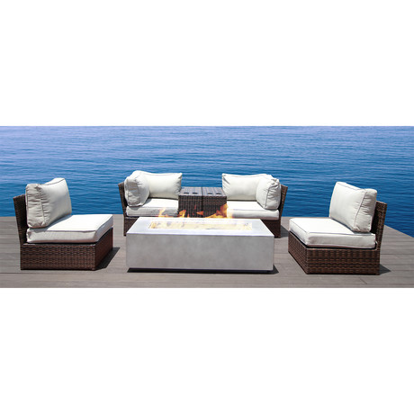 Manchester Cup Table Fire Pit // 7 Piece Set