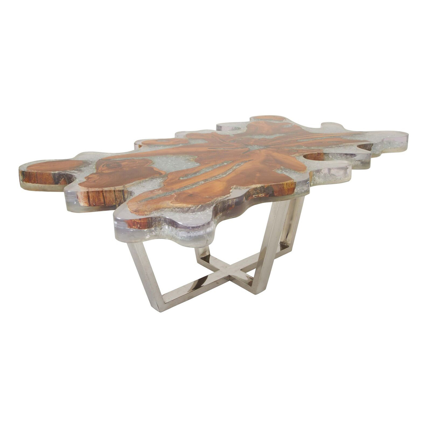 Modern Teak Resin Coffee Table - Universal Innovative ...