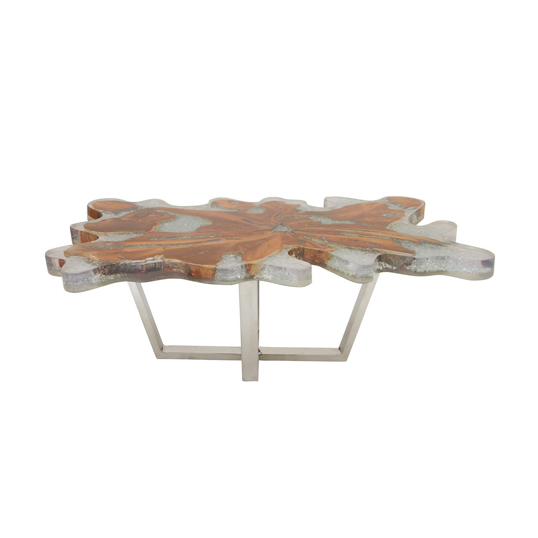 Modern teak resin coffee table universal innovative for Innovative coffee table