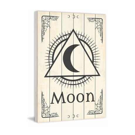 Triangle Moon // White Wood