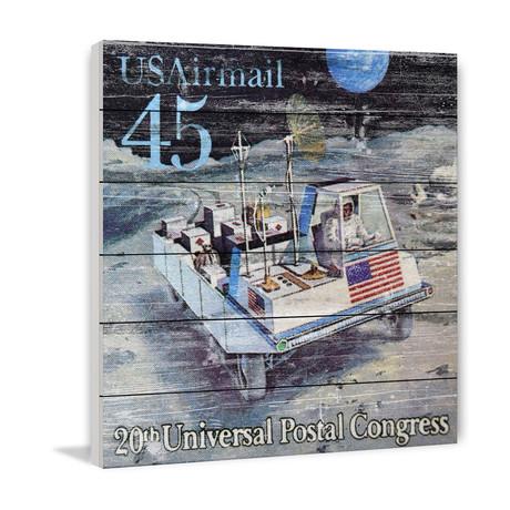 45 Cent Postal Congress Stamp // White Wood
