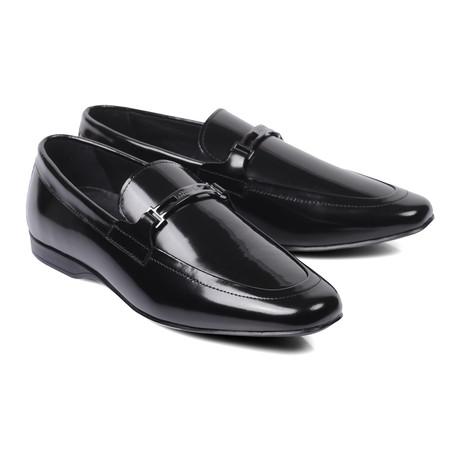 Metal Bit Patent Loafer // Black (Euro: 40)