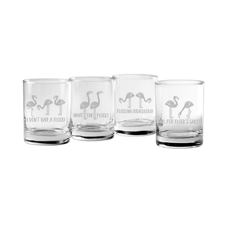 Flocking Ridiculous Assortment (Pint Glasses // Set of 4)