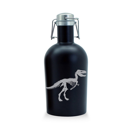 Jurassic T-Rex (Black Stainless Steel Growler)