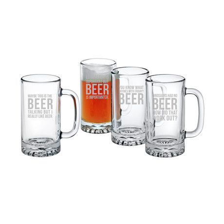 Beer Talking Assortment (Pint Glasses // Set of 4)