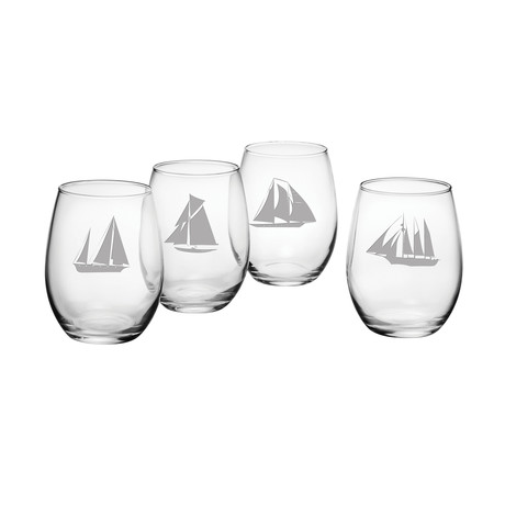 Regatta Assortment (Stemless Wine Glasses // Set of 4)