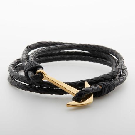 Multi-Layer Anchor Hook Bracelet // Black