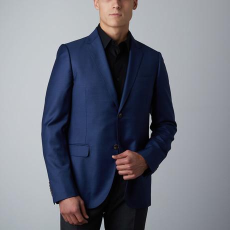 Micro Check Monaco Jacket // Blue