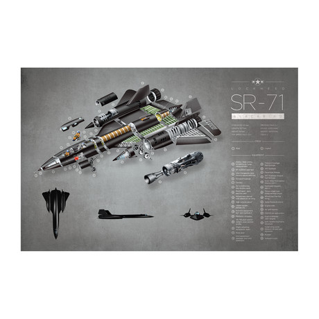 SR-71 Exploded View Poster
