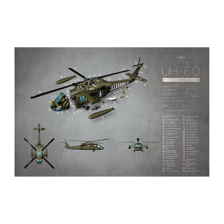 """UH-60 (11""""W x 17""""H)"""