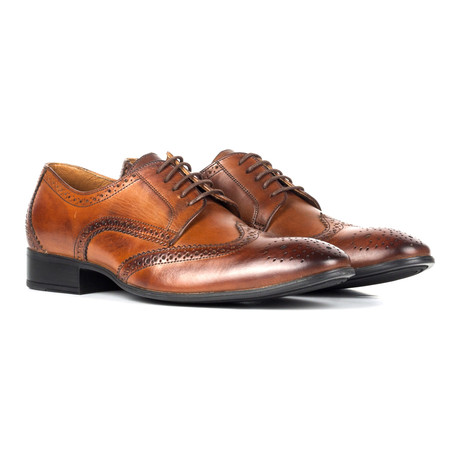 Leather Wingtip Full Brogue Derby // Brown