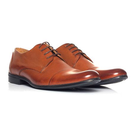 Plain Captoe Derby // Brown