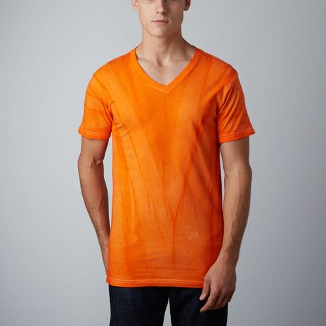 Ultra Soft Hand Dyed V-Neck // Vintage Orange