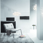 Drusa // Ceiling Wall Lamp (White)
