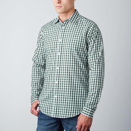 Greyson Check Button-Up // Green + White