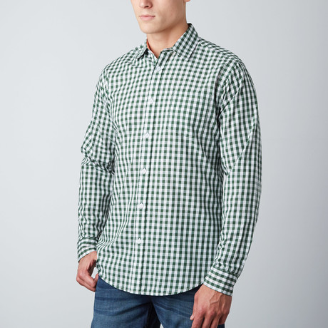 Greyson Check Button-Up // Green + White (S)
