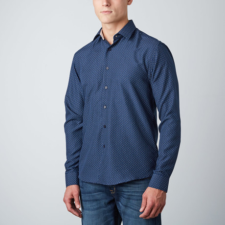 Ashton Ticks Button-Up // Navy (S)
