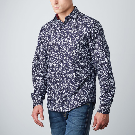 Ashton Sprigs Button-Up // Navy