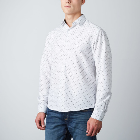 Ashton Polkadot Button-Up // White (S)