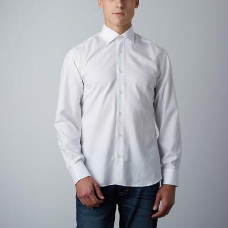 Adrian Paisley Button-Up Shirt // White (XS)