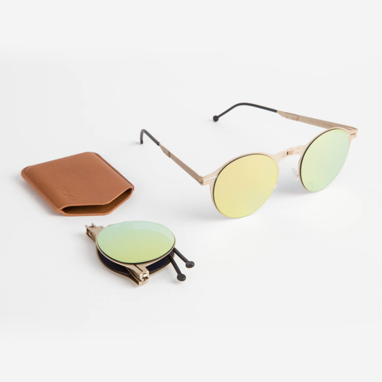 33263f4e90 Balto Brushed Gold    Gold Mirror - ROAV Eyewear - Touch of Modern