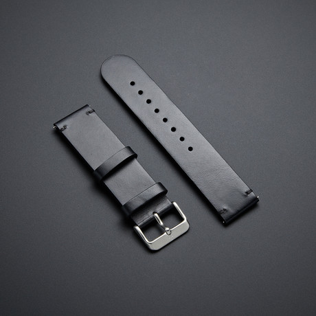 Leather Strap with Quick Release // Vintage Black