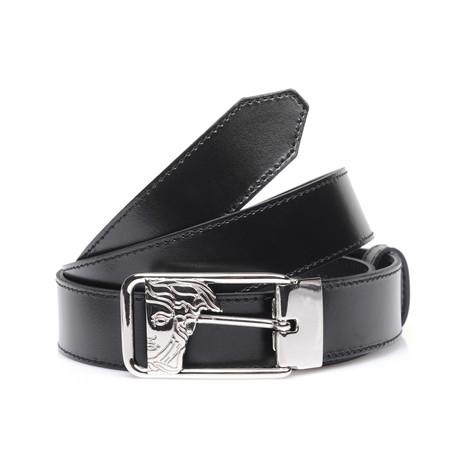 Negative Space Medusa Buckle Belt // Black