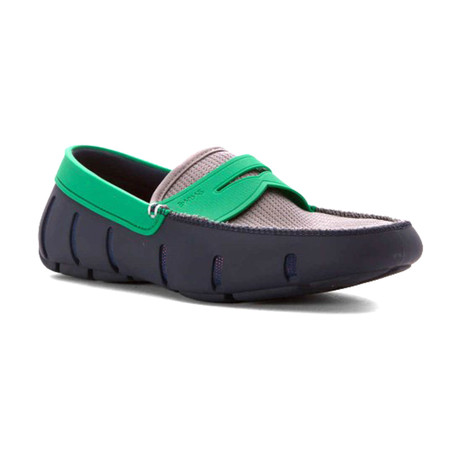Penny Loafer // Navy + Green + Gray (US: 7)