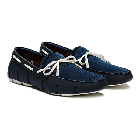 Lace Loafer // Navy + White (US: 7)