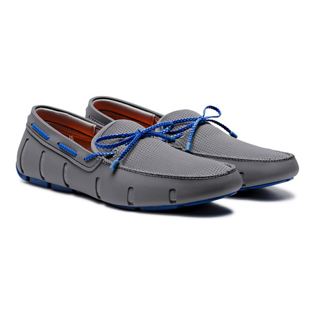 Braided Lace Loafer // Grey + Blue