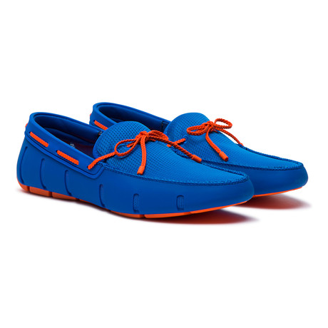 Braided Lace Loafer // Blitz Blue + Orange (US: 7)