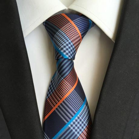 Handmade Tie // Multicolor Cross Stripe