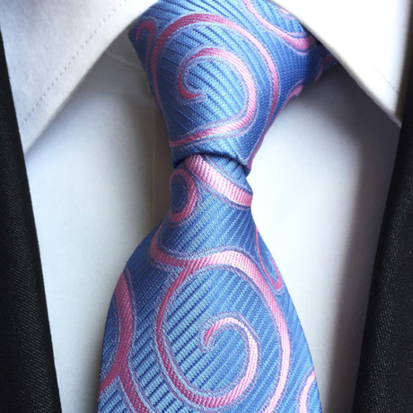 Handmade Silk Tie // Blue Pattern