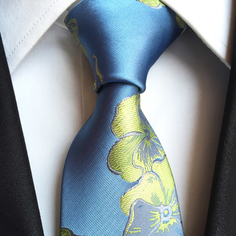 Handmade Tie // Light Blue Floral