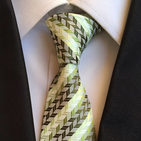 Handmade Tie // Green Patterned