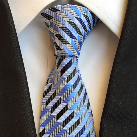 Handmade Silk Tie // Blue Patterned