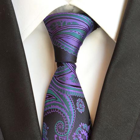 Handmade Tie // Blue Paisley
