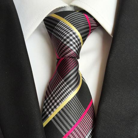 Handmade Tie // Black Plaid