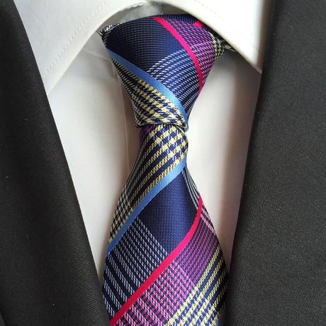 Handmade Tie // Midnight Blue Plaid