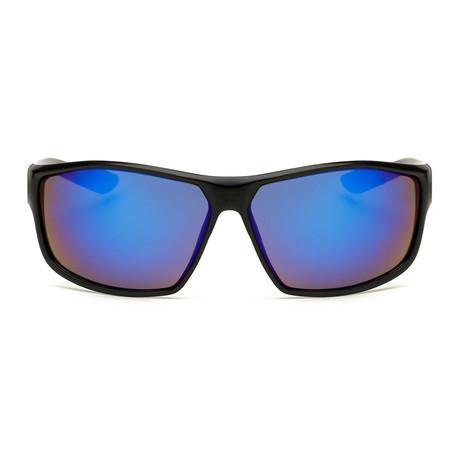 Maverick // Black + Blue Mirror Lens