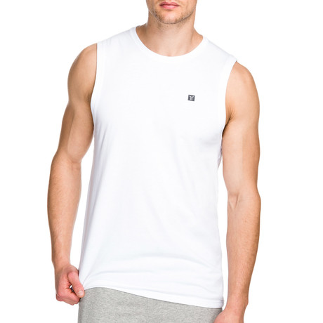 Trainer Muscle Tank // White