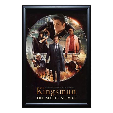 Signed Movie Poster // Kingsman // Cast