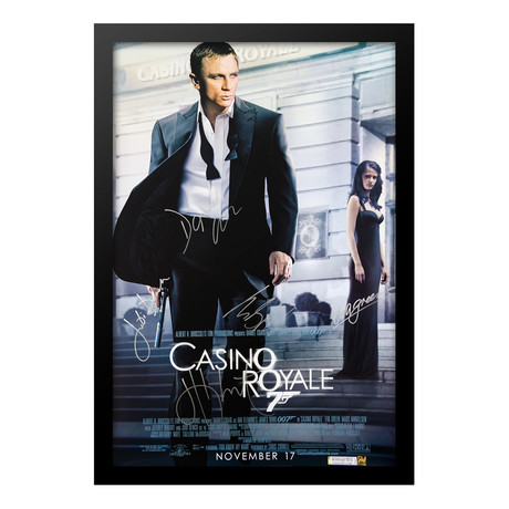 Signed Movie Poster // Casino Royale