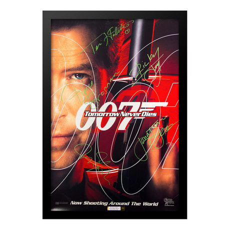 Signed Movie Poster // Tomorrow Never Dies