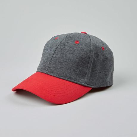 Fits Comfort Jersey Cap 2 Tones // Charcoal + Red
