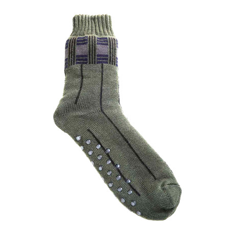 Fleece-Lined House Sock // Moss