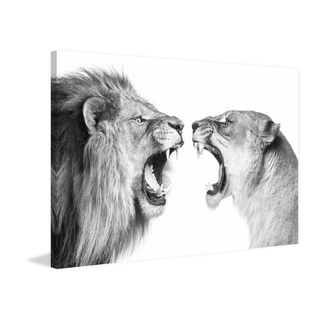 Heated Discussion // Painting Print on Canvas
